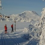 Bilde av folk på skitur i Venabygdsfjellet ved Gudbrandsdalen