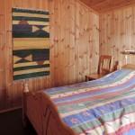 Hovedsoverommet i hytten