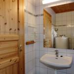 Bilde fra badet i hytten.